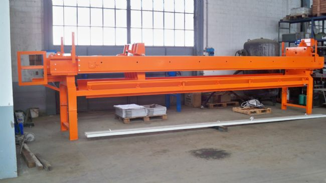 » N.01 filter-press DM AUTOMAT 800x800 with 70 plates installed.