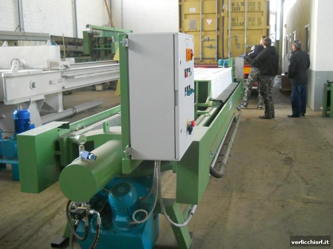 » VERLICCHI S.R.L. fornisce un filtro-pressa 800x800 in Nuova Zelanda